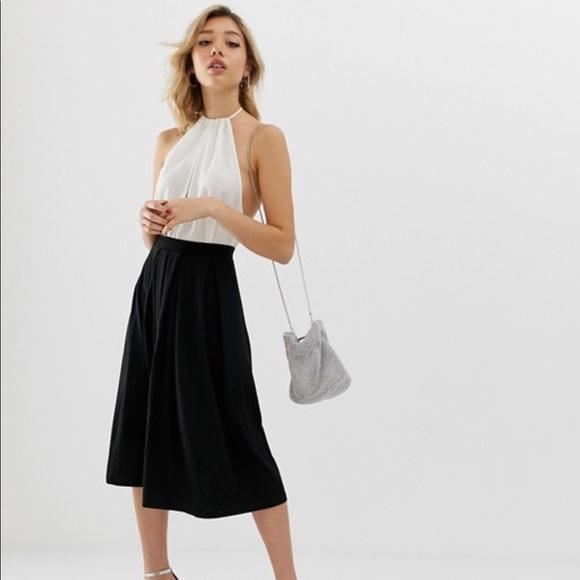 stylish design real deal uk cheap sale ASOS Petite Black Pleated Midi Skirt NWT